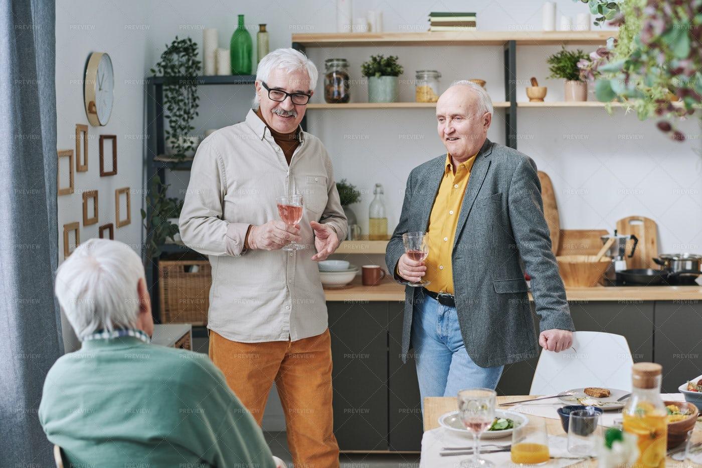 Senior Men Gathering Together: Stock Photos