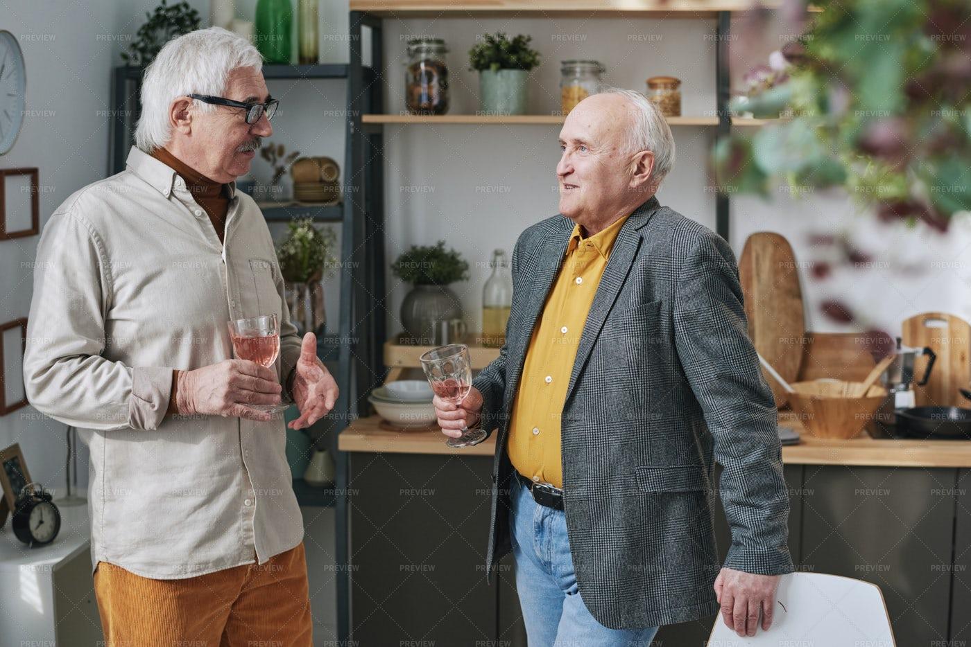 Senior Men Talking: Stock Photos