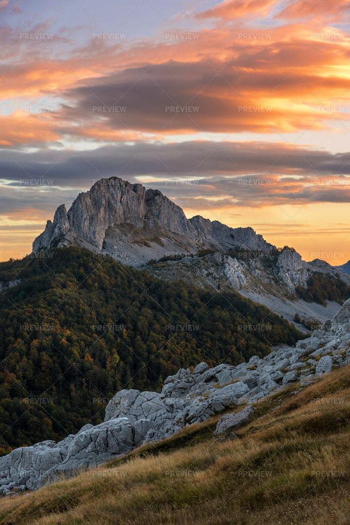 Rock And Sunrise: Stock Photos
