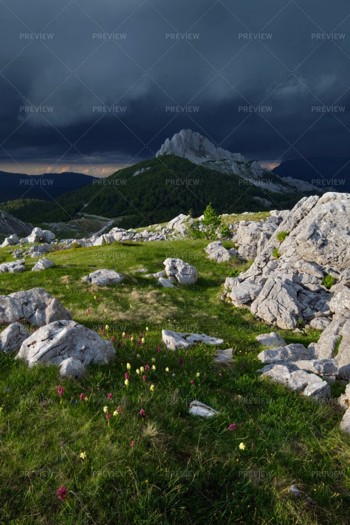 A Storm In The Mountains: Stock Photos
