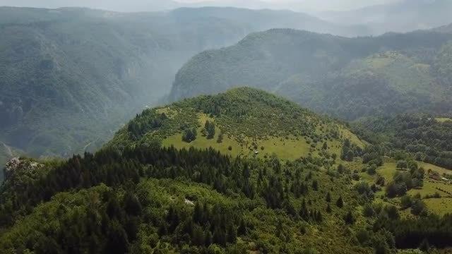 Aerial View Of Mountainous Area : Stock Video