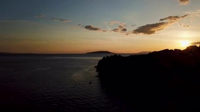 Amazing Sunset Aerial View : Stock Video