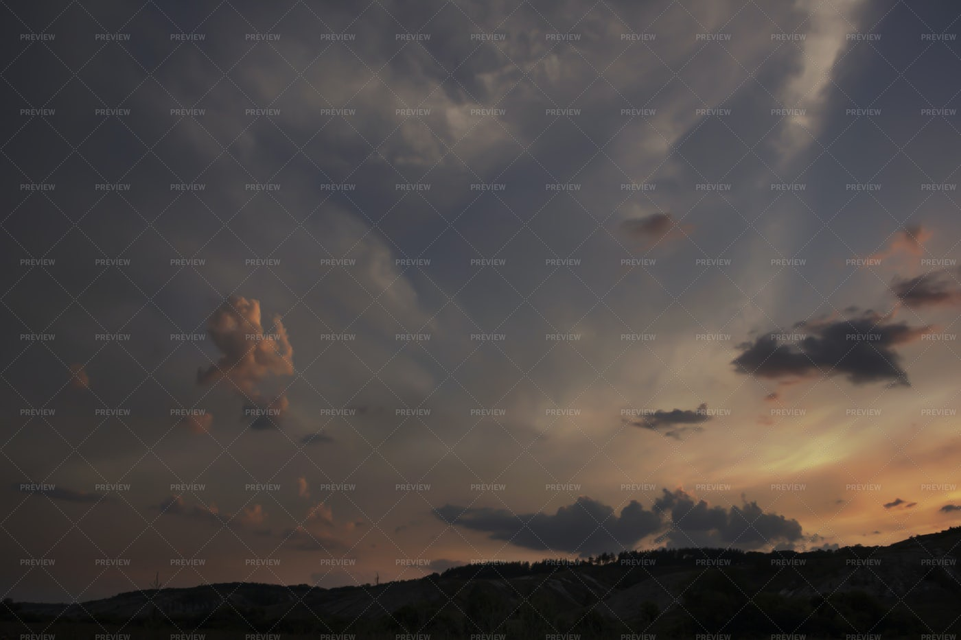 Clouds In Sunset: Stock Photos