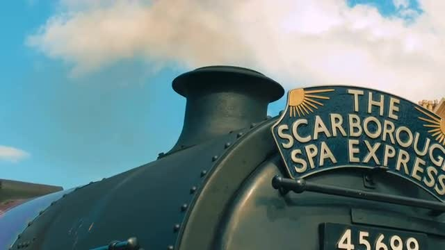 Scarborough Spa Express Locomotive: Stock Video