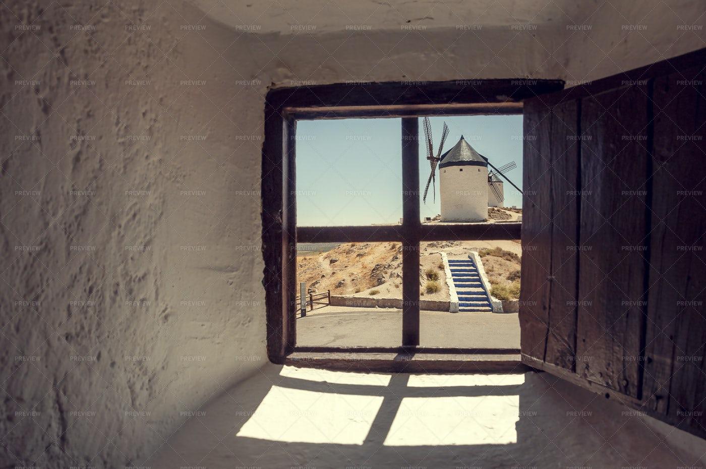 Window In Consuegra, Toledo: Stock Photos