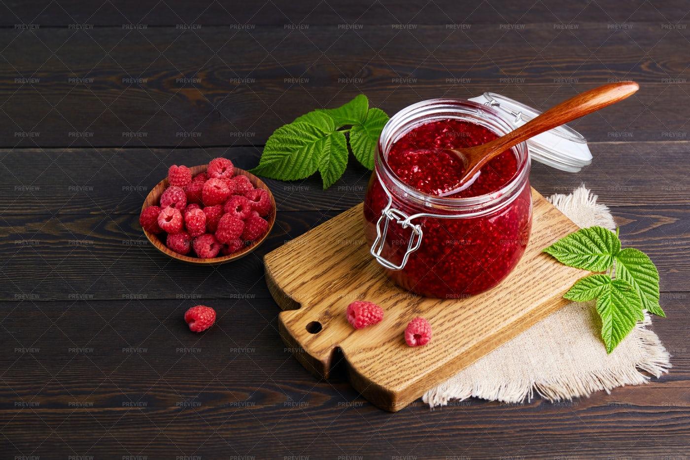 Raspberry Jam: Stock Photos