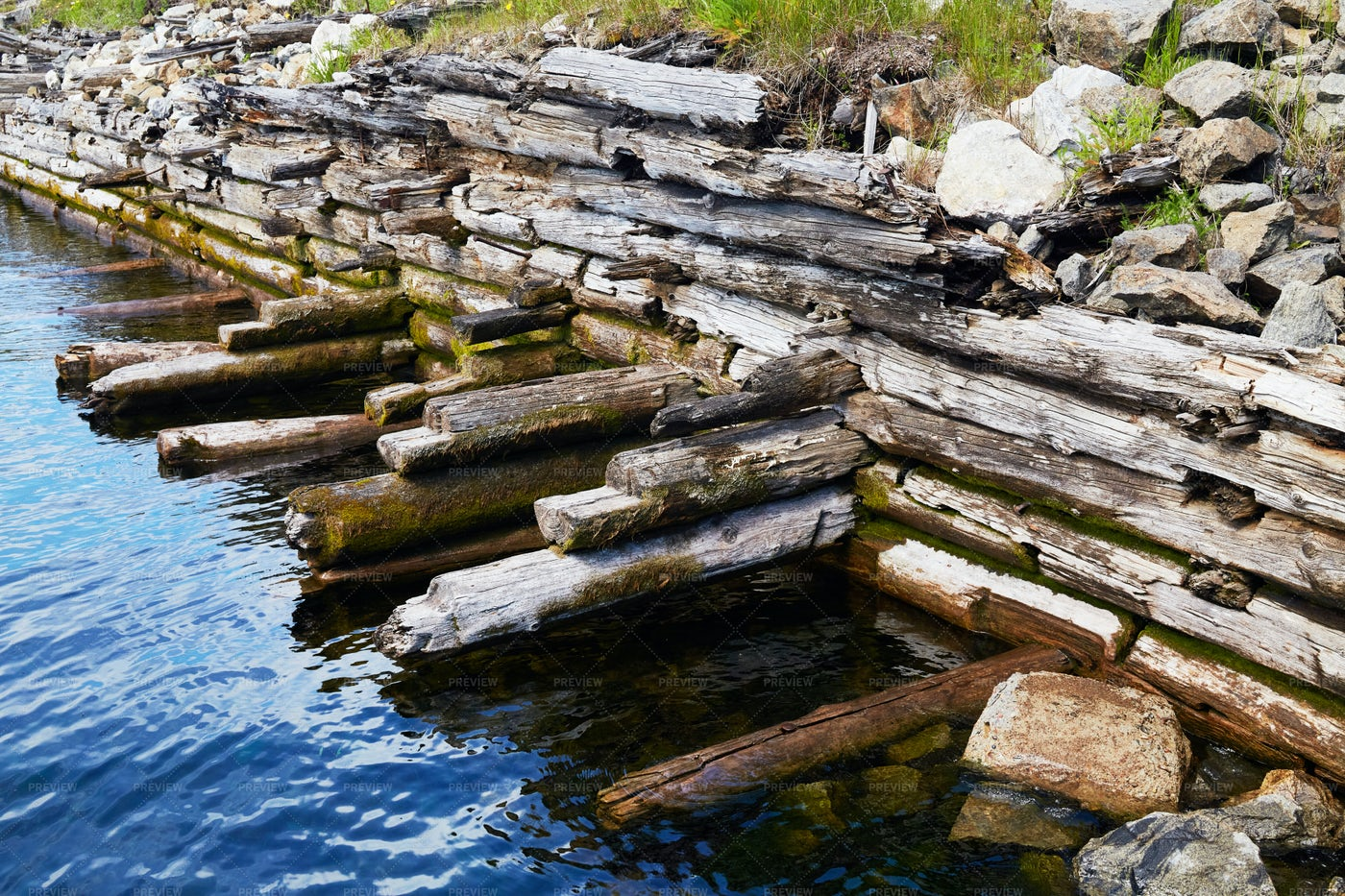 Old Ruined Pier: Stock Photos