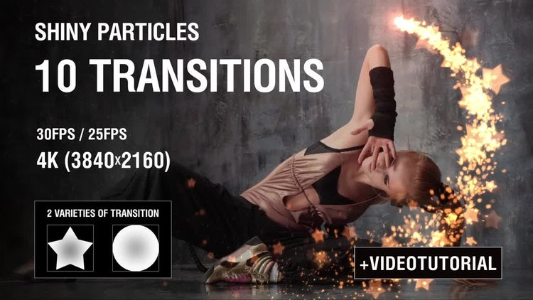 Shiny Particles Transition vol.1: Stock Motion Graphics