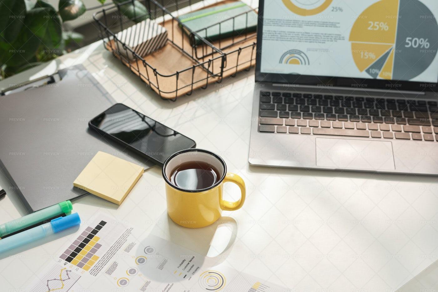 An Executive's Desk: Stock Photos