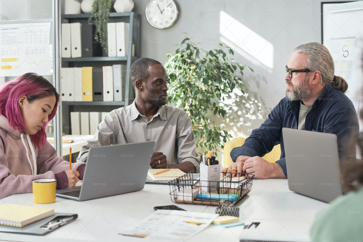 People Working In Team At Office: Stock Photos