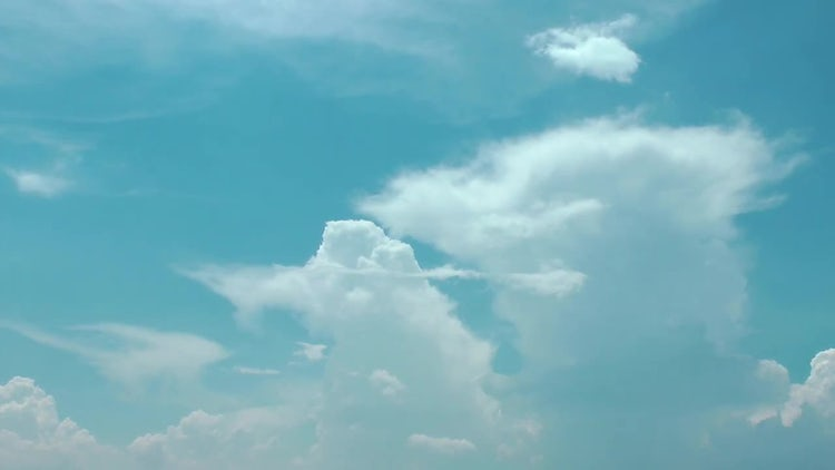Cotton Like Cumulus Clouds Spreading Stock Video Motion Array