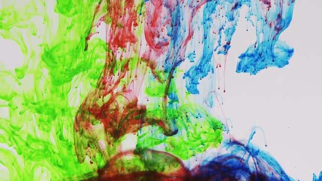 Colorful Paints Dropping In Water: Stock Video