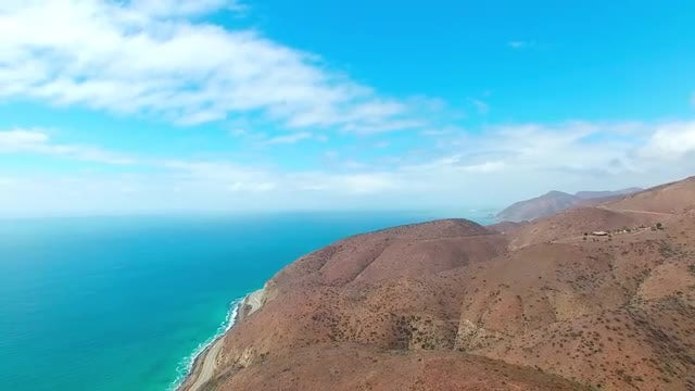 Aerial Shot Of Pacific Coast: Stock Video
