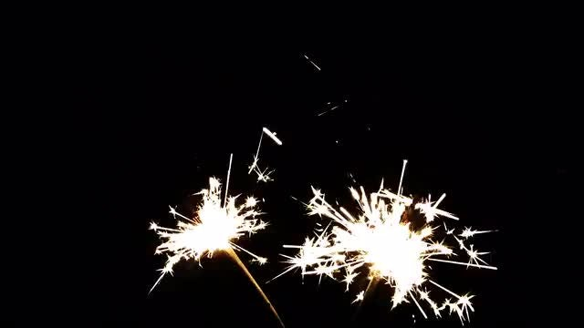 Bengal Fireworks With Shiny Sparks: Stock Video