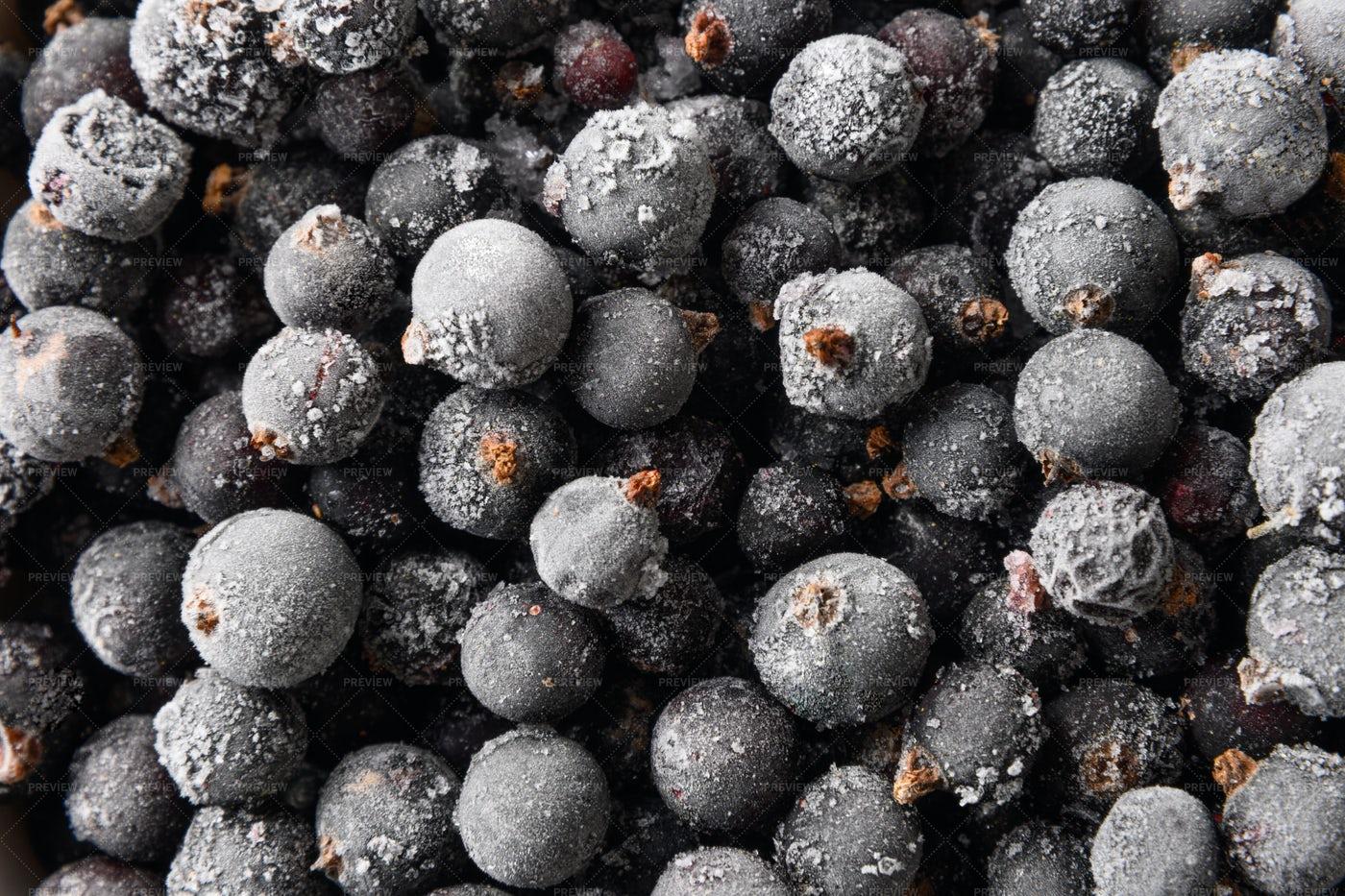 Frozen Black Currant Background: Stock Photos