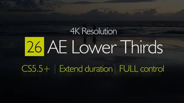 4K Lower Thirds: After Effects Templates