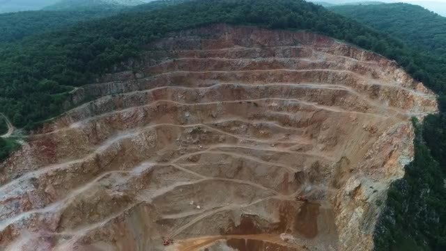 Aerial Shot Of A Quarry: Stock Video