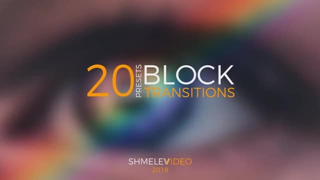 Block Transitions Presets: Premiere Pro Presets