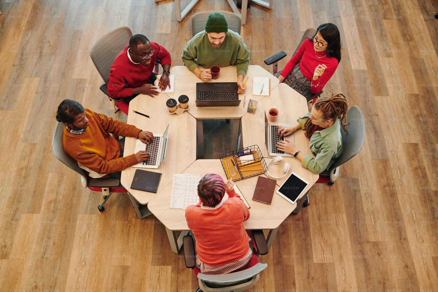 Coworkers At Table: Stock Photos