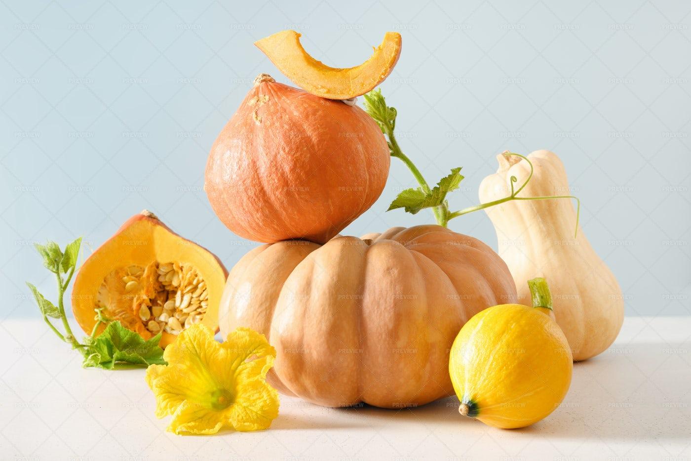 Composition Of Pumpkins: Stock Photos