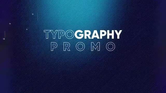 Typography Promo: After Effects Templates