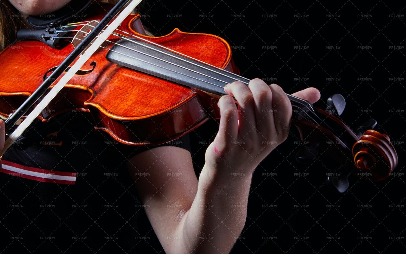 Playing Violin: Stock Photos