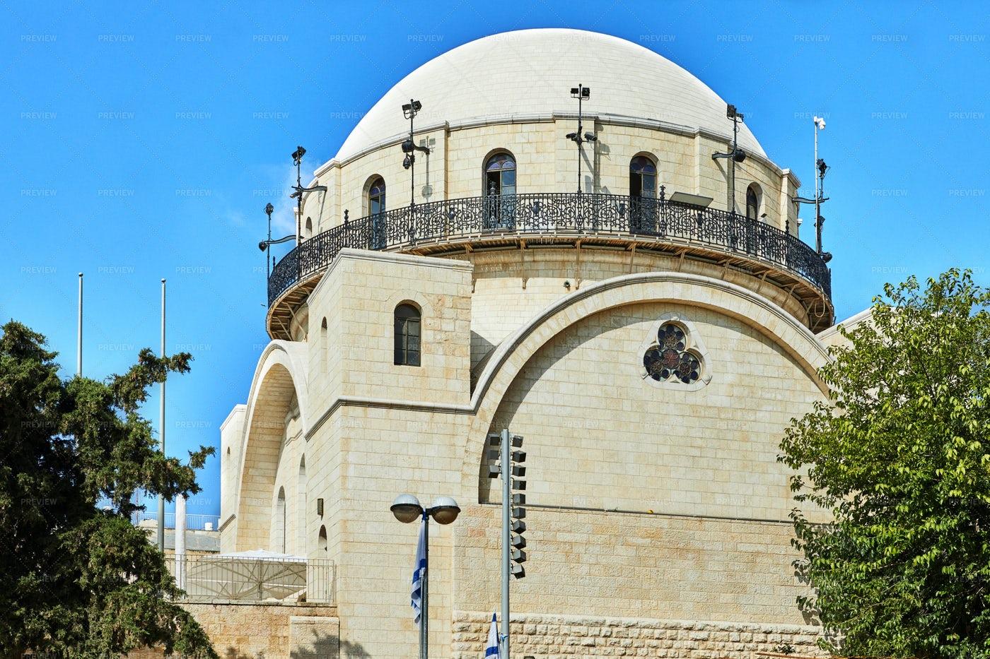 Ramban Synagogue In Jerusalem: Stock Photos