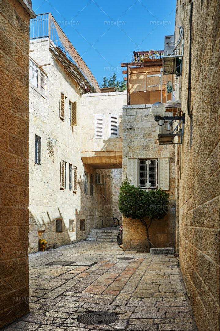 Alley In Jewish Quarter Jerusalem: Stock Photos