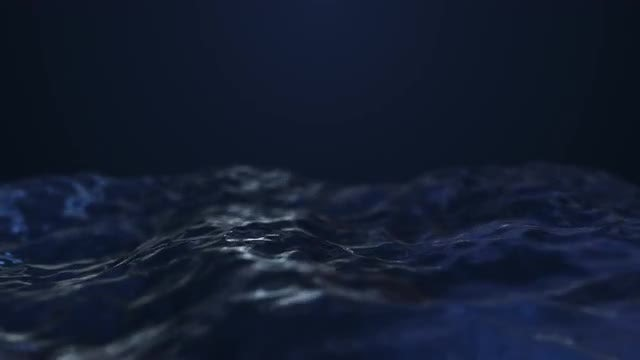Dark Blue Abstract Waves: Stock Motion Graphics