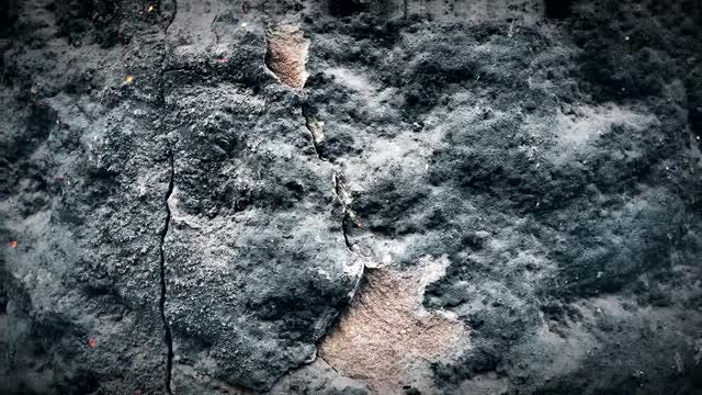 Rock Wall During Volcanic Eruption : Stock Motion Graphics