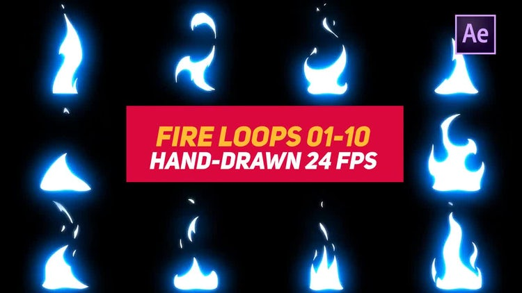 Liquid Elements 3 Fire Loops 01-10: After Effects Templates