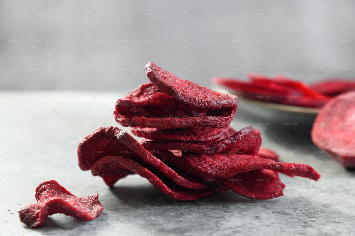 Vegetable Beetroot Chips: Stock Photos