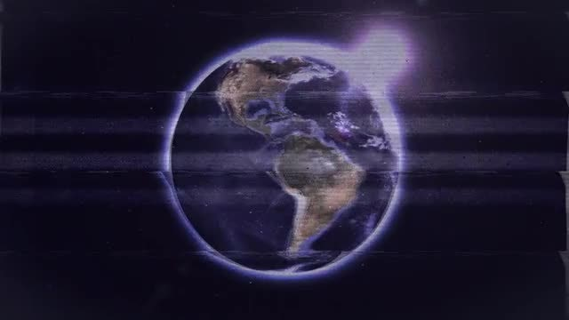 VHS View Of The Earth: Stock Motion Graphics