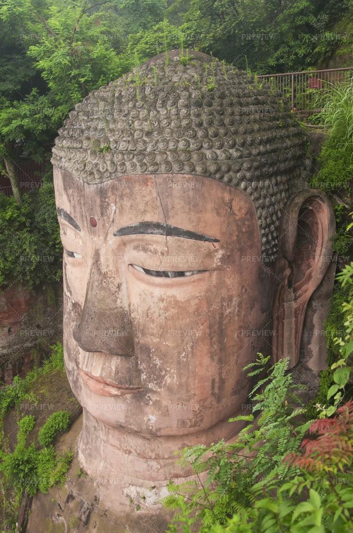 Leshan Grand Buddha Statue: Stock Photos