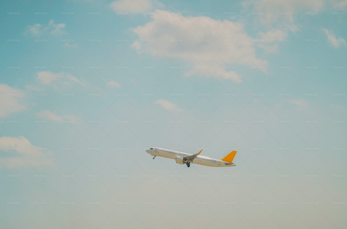 Plane In The Sky: Stock Photos