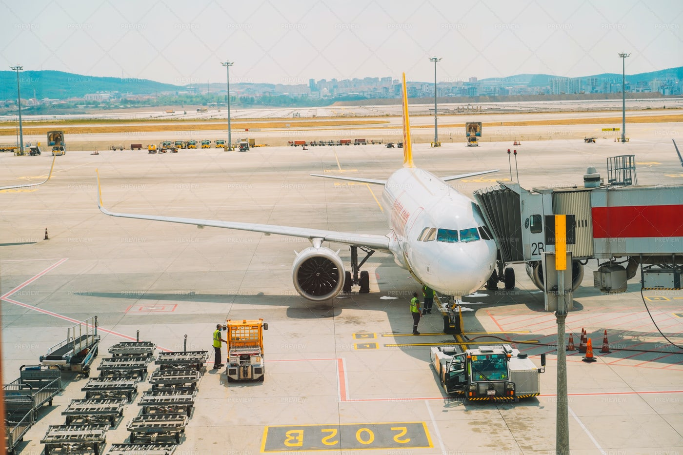 Airplane In Airport: Stock Photos