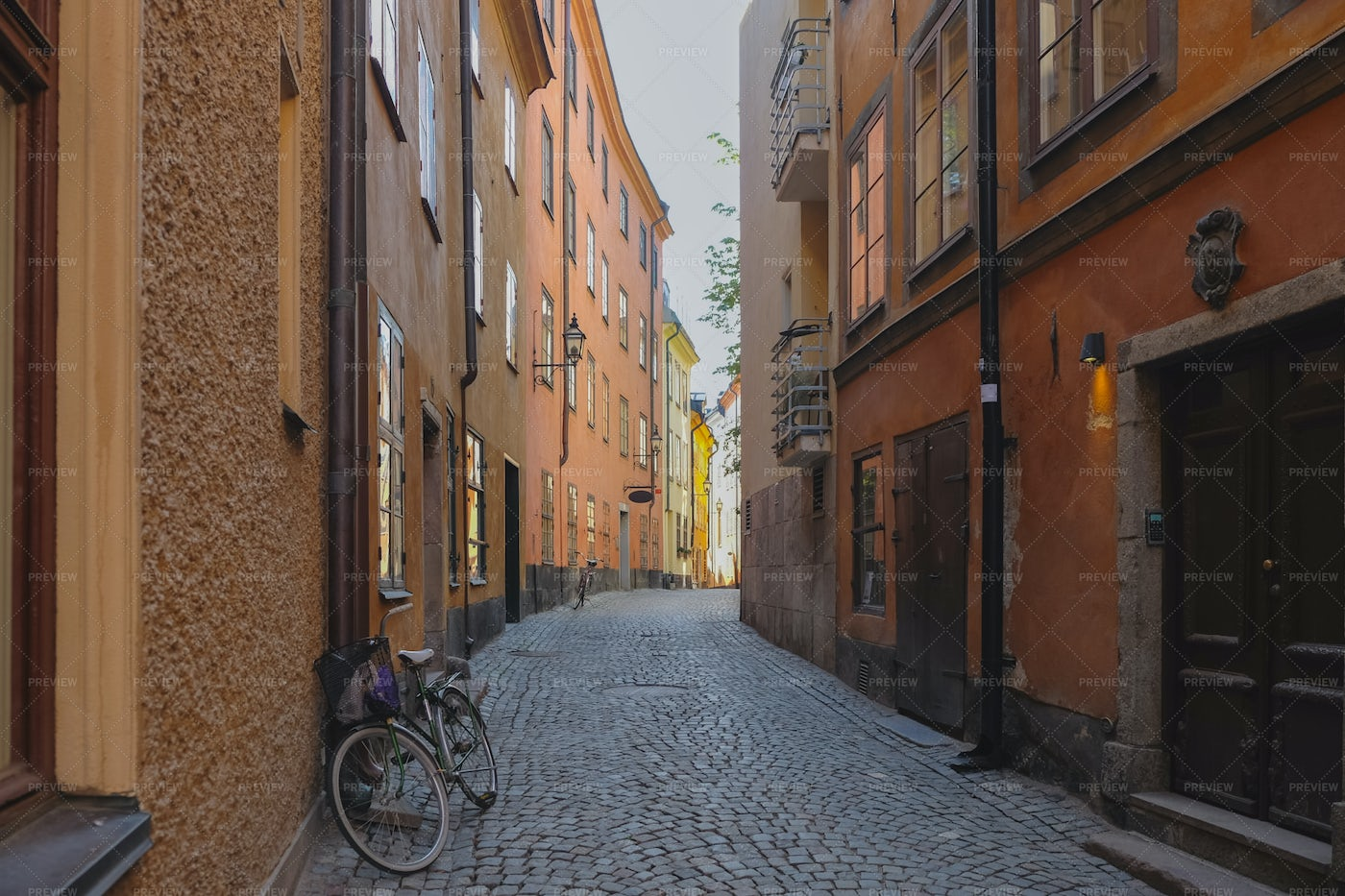 Alley In Stockholm: Stock Photos