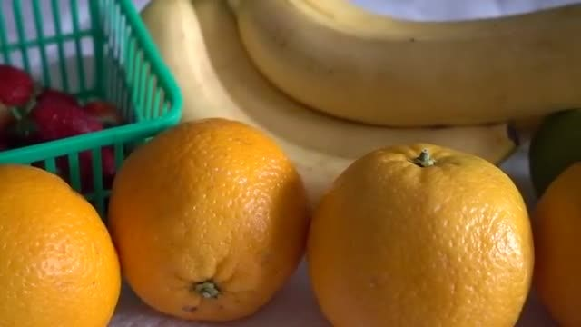 Fresh Fruits On The Table: Stock Video