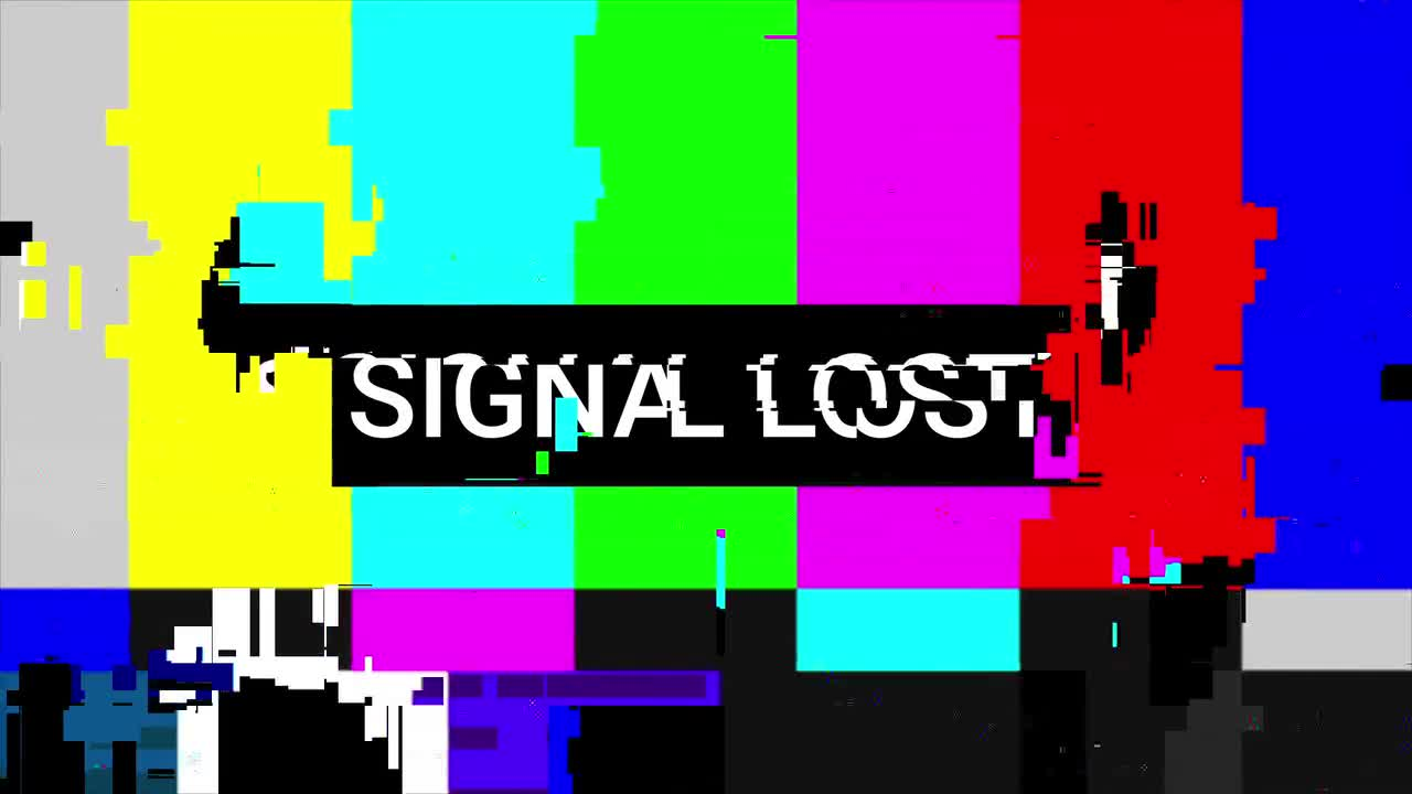 Lost Signal Video Clip Stock Motion Graphics Motion Array