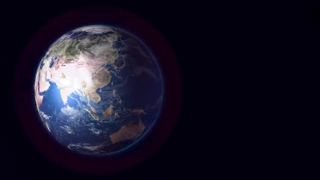 Telecommunications Field Around The Earth: Stock Motion Graphics
