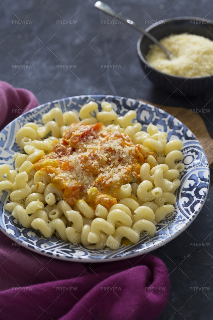 Pasta With Cheese: Stock Photos
