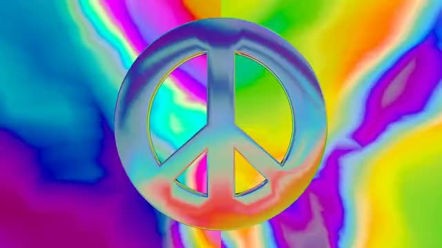 trippy peace sign: Stock Motion Graphics