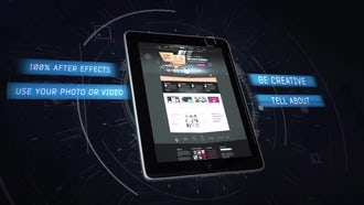 Tablet App Promo: After Effects Templates