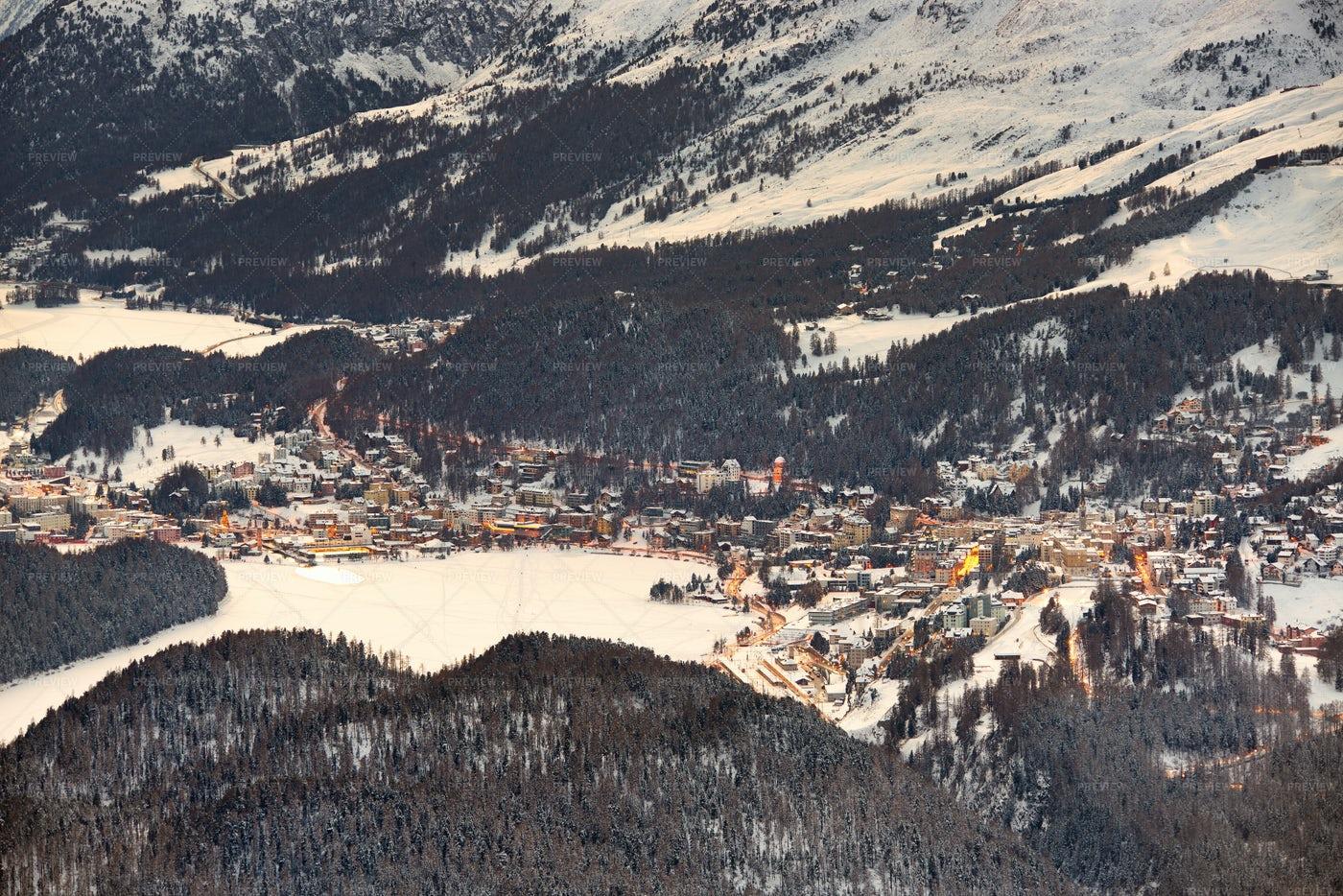 Sankt Moritz At Daylight: Stock Photos