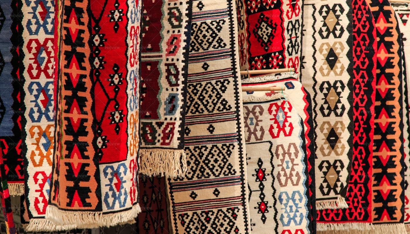 Artigianal Carpets For Sale: Stock Photos