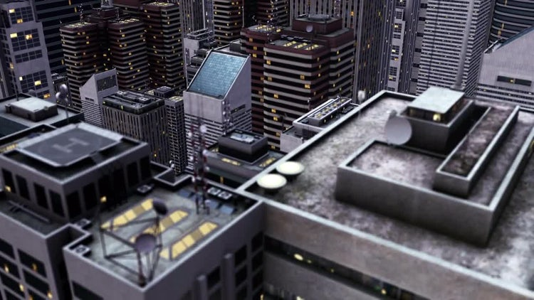 Flying Over A City: Stock Motion Graphics