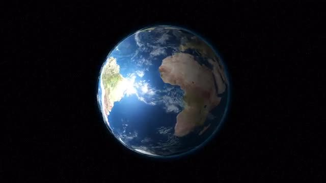 Planet Earth Rotates In Space: Stock Motion Graphics