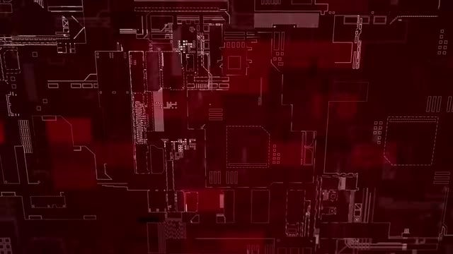 Red Circuit Diagram Looped : Stock Motion Graphics