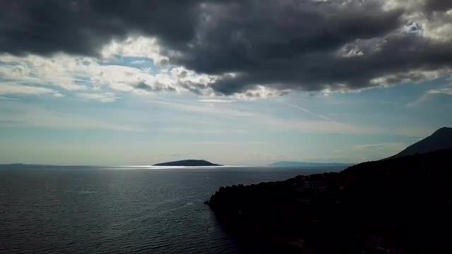 Ocean And Sky Aerial: Stock Video