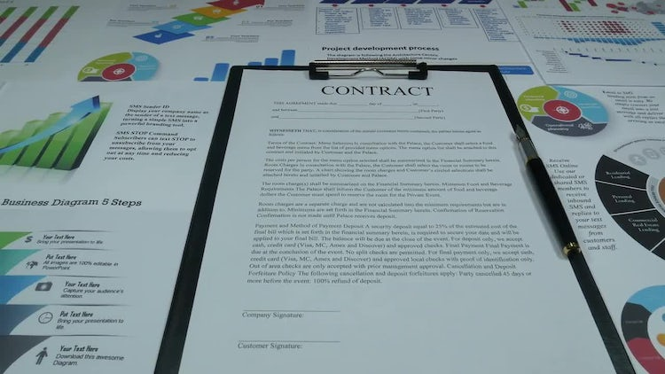 Business Contract - Stock Video | Motion Array